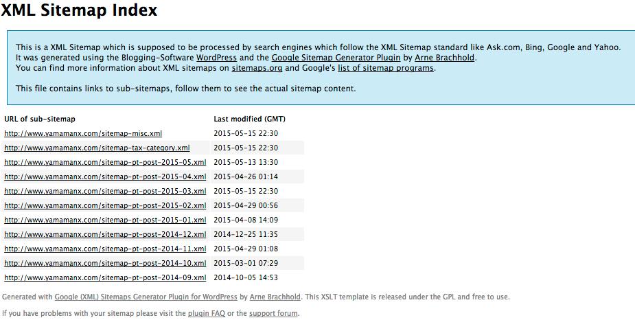 sitemap xml sitemap misc xml とrobots txtを設置する ヤマムギ